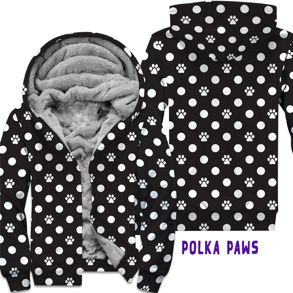 POLKA PAWS- ROUND 2 FLEECE JACKETS
