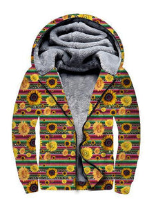 SERAPE SUNFLOWER EXCLUSIVE FLEECE JACKET