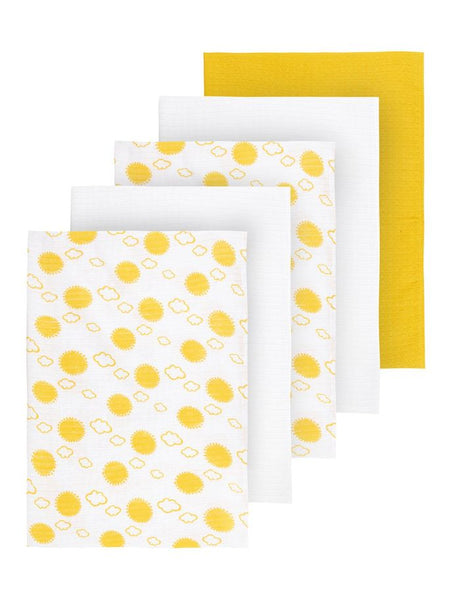 name it unisex baby 5 pack of Organic Cotton Muslin Cloths ONE SIZE