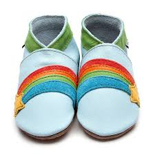 Inch blue soft baby blue leather shoe Rainbow Star