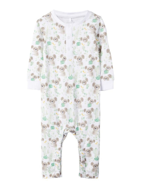 name it Organic Cotton Koala Playsuit ages 1 to 9 months