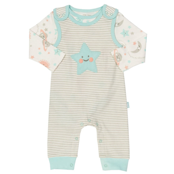 Kite Clothing Unisex Love You Dungaree Set 2 piece newborn - 18 months