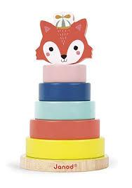 Janod wooden Stackable Fox game suitable 12-36 months Was £16.00 now £9.95