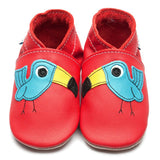 Inch Blue Terry Toucan soft red leather shoe
