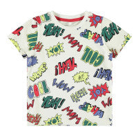 name it boys wow cartoon tee shirt age 9 months - 4-5 years