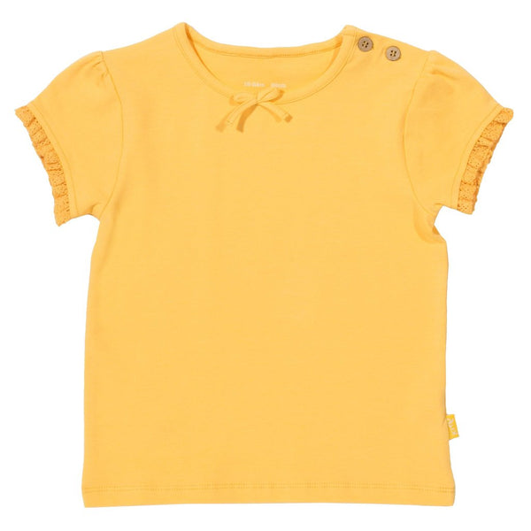 Kite Clothing mini girls organic cotton go to top Yellow  Clearance Was £13 NOW £8.00