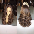 Beautiful brown curly wig