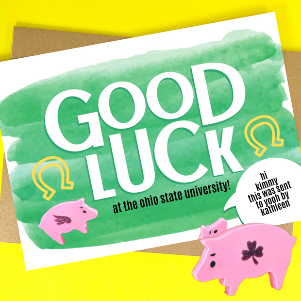 good luck (customizable message)
