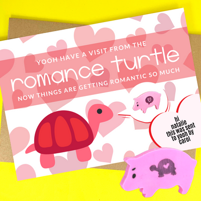 a visit from the romance turtle