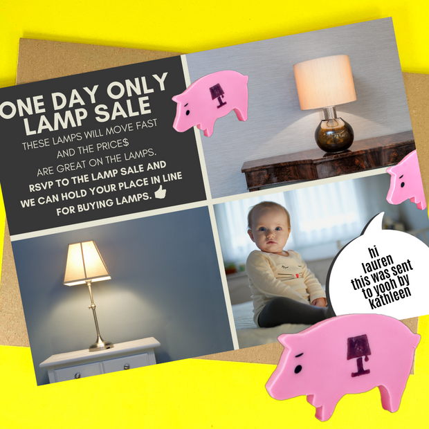 lamp sale invitation
