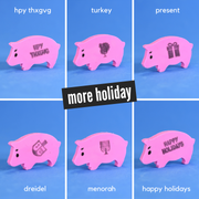happy holidays with custom message