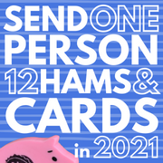 send a series of 12 cards/hams to one person