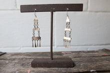 Load image into Gallery viewer, Vintage Zuni Turquoise Silver Chandelier Earrings