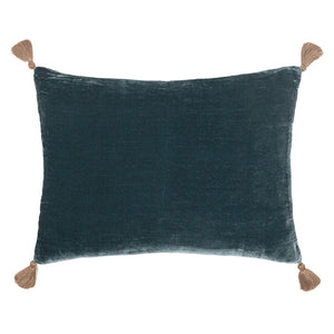 Goa pom pom cushion in 'London' colour