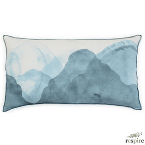 Ink cushion in dark denim