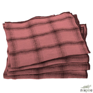 Le Monde Sauvage - Lot de 4 serviettes Highlands Jaipur