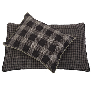 Small Inverness cushion in black