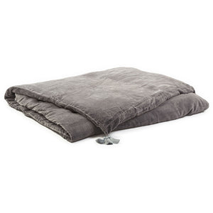 Goa eiderdown in silver