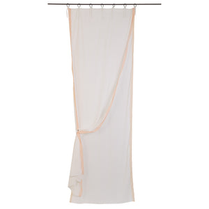 Benares voile curtain in nude colour