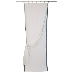 Benares voile curtain in lead colour