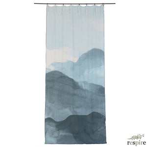 Ink curtain in dark denim