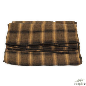 Highlands tablecloth 170x170 in mustard colour