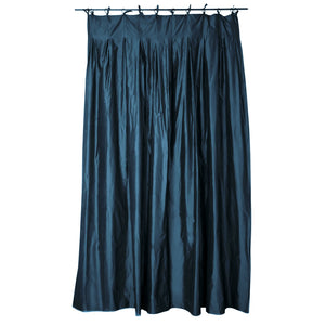 Double silk taffeta curtain in dress blue