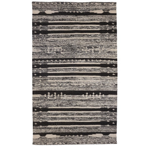 Grand tapis Flat noir chiné