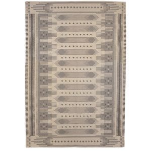 Grand tapis Flat blanc naturel