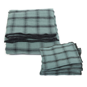Highlands tablecloth and 4 matching serviettes in beryl colour