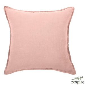 Washed linen pillowcase in nude colour