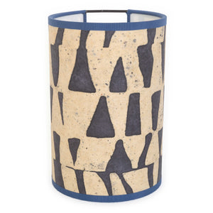 Josephine B. wall light in nude: Navy checkerboard