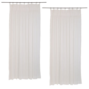 Marriage in Majorca cotton voile curtain in optic white