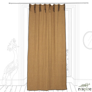 Brooklyn linen curtain in mustard colour