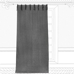 Williamsburg linen curtains in moon colour