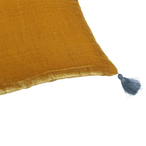 Coussin Goa pompons antic moss