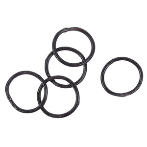 Set of 5 hammered iron rings