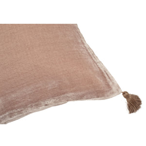 Coussin Goa pompons taupe