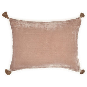 Goa pom pom cushion in taupe