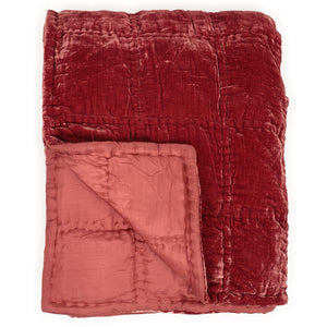 Goa by night quilt in terracotta colour