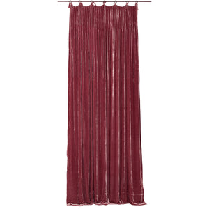 Istanbul velvet curtain in terracotta colour