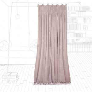 Istanbul velvet curtain in turtledove colour