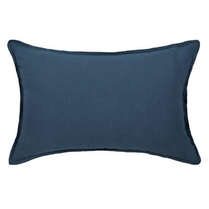 Washed linen pillowcase 50x70 cm in midnight blue