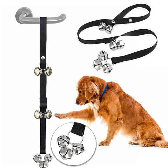 1PC Door Knob Hanging Pet dog Doorbell Leash Puppy