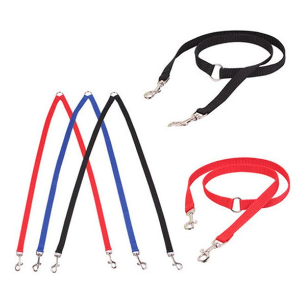 2016 Two heads pet dog collar leash double twin