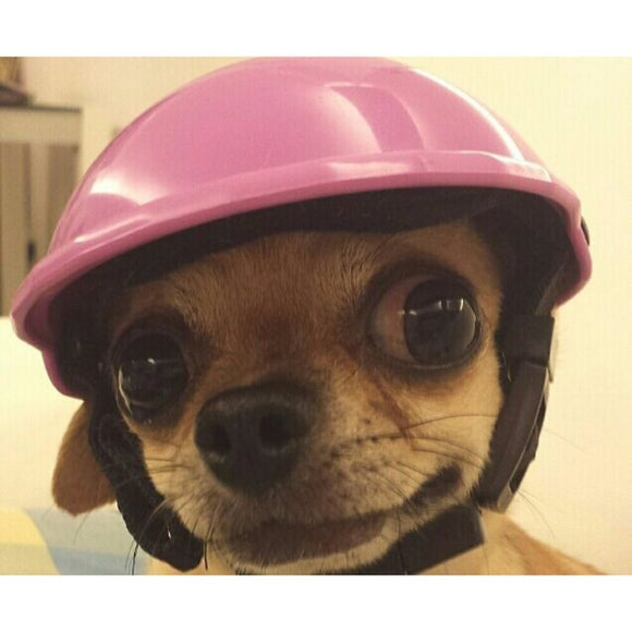 Pets Handsome Biker Dog Hat Helmets Ridding Cap