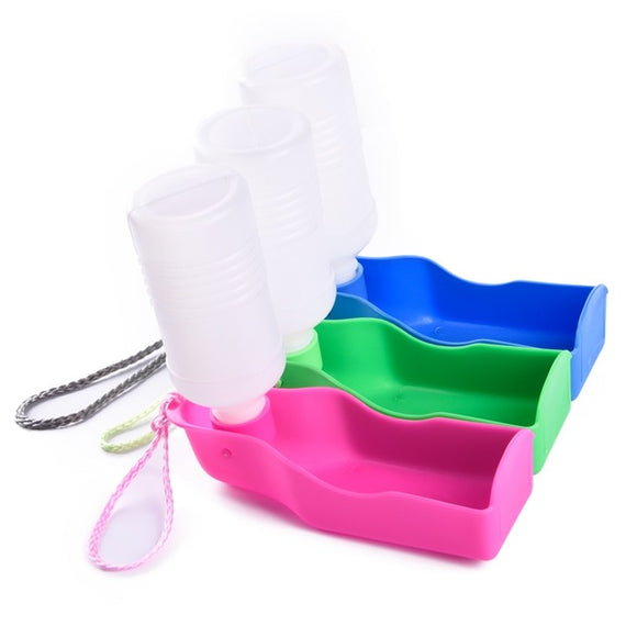 300ml Pet Dog Cat Bowl for Travel Puppy Foldable