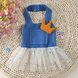 Dog Cat Bow Tutu Dress Skirt Pet Puppy Dog