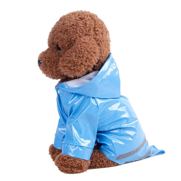 Dog Waterproof Raincoat Reflective Strip Dog