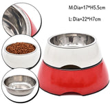 Durable Stainless Steel Dog Puppy Feeding Bowl Cat